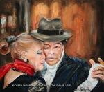 ANDREEA GHEORGHIU - DANCING TO THE END OF LOVE - ULEI PE PANZA -  40 X 45 - 400 E