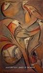 JULIA KRETSCH - DANCE OF THE BIRDS - ULEI PE PANZA - 60 X 100 - 250 E