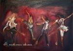 RAZVAN STANCIU - MAD DANCE - ACRIL PE PANZA - 70 X 50 - 250 E