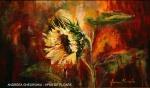 11. ANDREEA GHEORGHIU - FLOWER SUNSET - ACRIL PE PANZA - 50 X 30 - 550 E