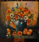 12. ANDREEA GHEORGHIU - FLOWER AND FRUIT - ACRIL PE PANZA - 35 X 35 - 450 E