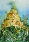 30. CRISTINA TAMAS - TOWER OF MY SOLITUDE - TEHNICA MIXTA - 70 X 50 - 500 E